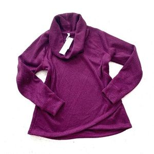 Ideology purple cowl neck fleece pullover